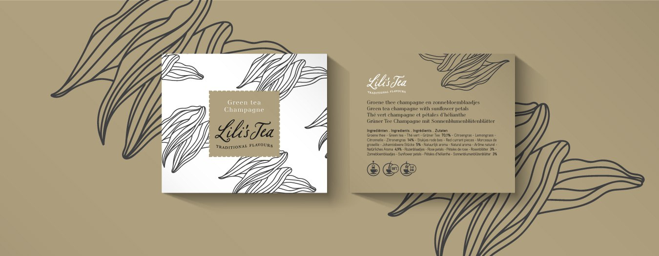 Lili's Tea packaging