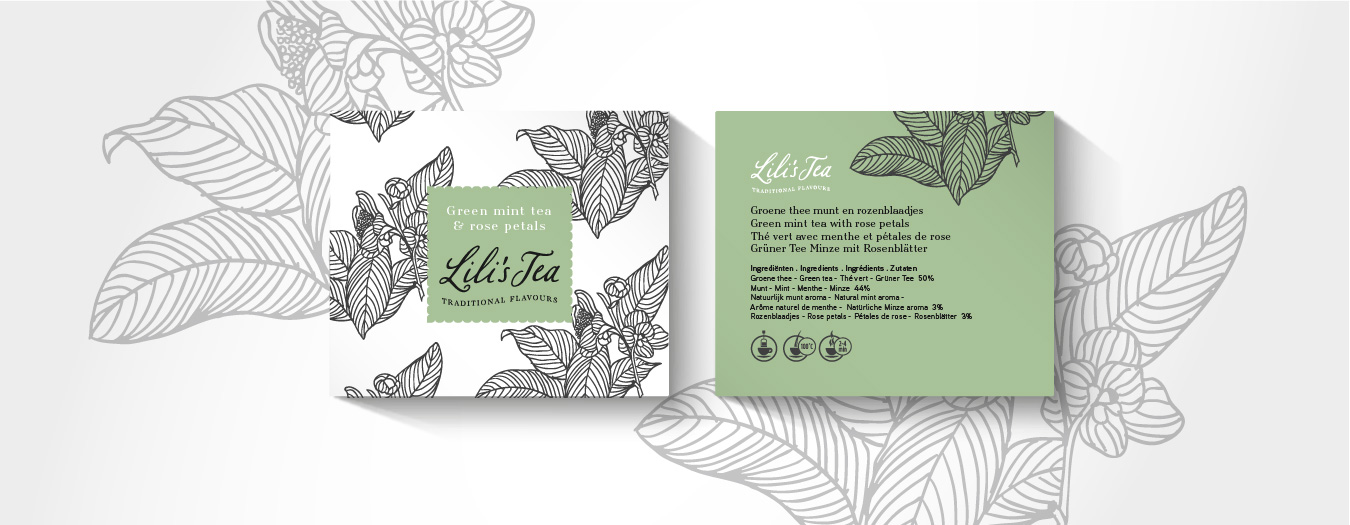 Lili's Tea packaging 2